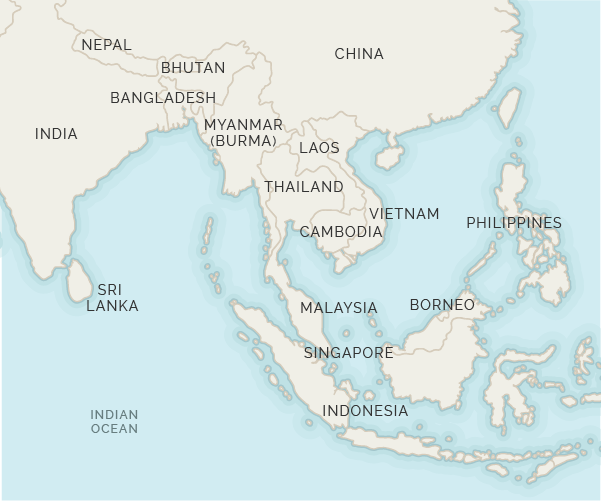 Asia Holidays and Travel Asia with the Asian Experts – Odyssey Travel Map